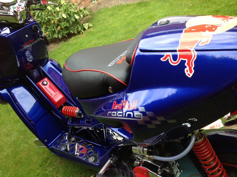 Red Bull themed Italjet Scooter